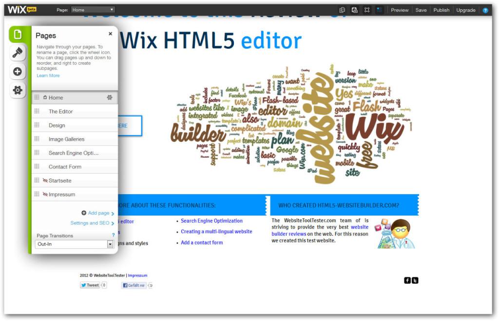 Kак да редактираме страниците с редактор Wix
